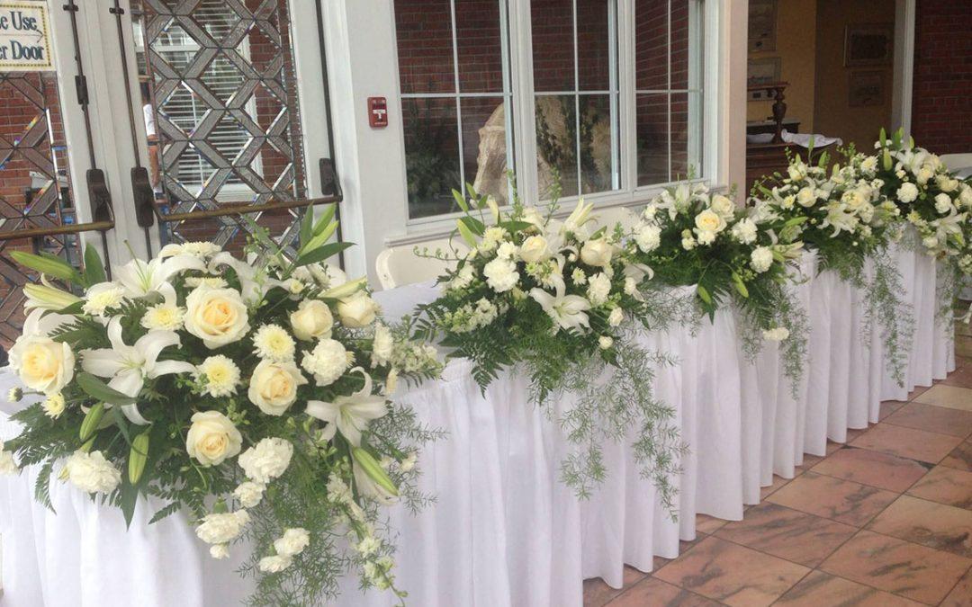 Head Table At A Wedding Reception