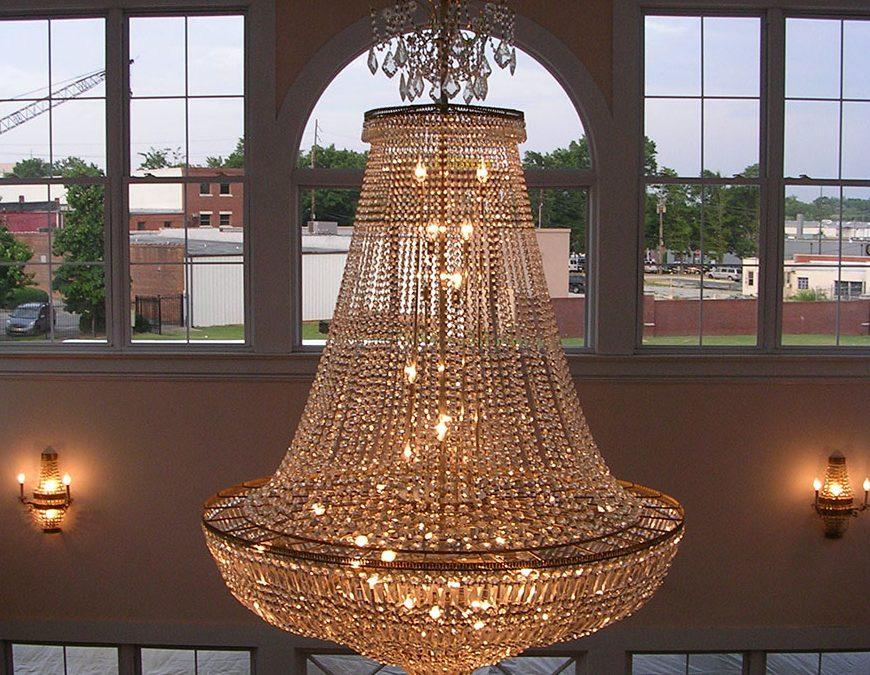 Pendant Chandelier – the focal point of our atrium | The Arts Council