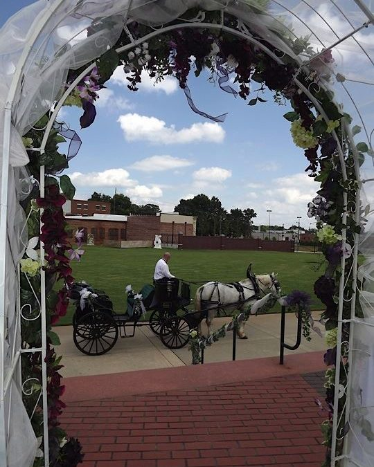 Perfect Venue to leave in a horse driven carriage